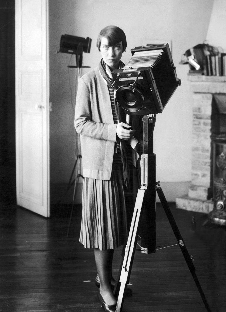 Berenice Abbott at her studio on the rue Servandoni, Paris, 1928